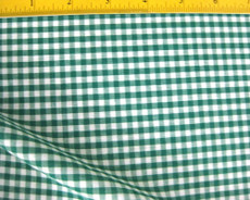 "Green White Checkered 1/8"" Gingghham Cotton Fabric"