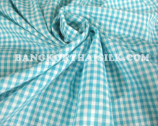 "Gingham Light Green & White Checkered 1/8"" Cotton Fabric"