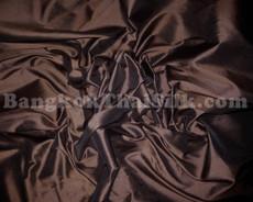 """Chocolate Brown Faux Silk Taffeta 60""""W Fabric"""