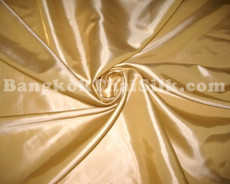 "Cream Gold Faux Silk Taffeta 60"" Fabric"