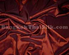 "Rust Red Taffeta 60""W Fabric"