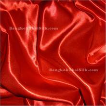 "Red Satin Fabric 45""W"