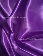 "Royal Purple Satin Fabric 45""W"