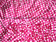 "Polka Dot Satin 48""W Pink & White Dot"
