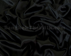 "Black Satin Fabric 60""W"