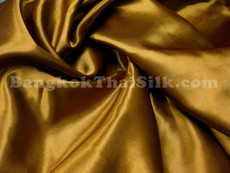 "Old Gold Satin Fabric 45""W"