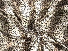 "Stripe Gold Ivory Cheetah Animal Print 48""W Fabric"