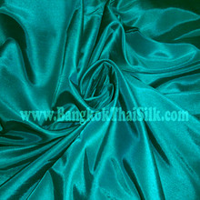 "Faux Silk Caprice Dupioni 60""W Fabric - Teal Green"