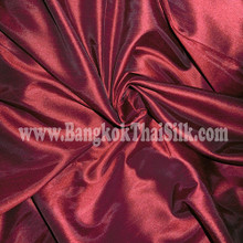 "Faux Silk Caprice Dupioni 60""W Fabric - Dark Red"