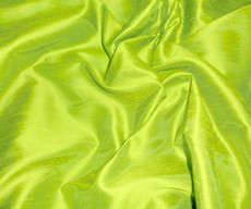 "Faux Silk Caprice Dupioni 60""W Fabric - Apple Green"