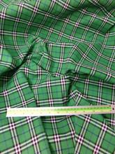 "Plaid Tartan Woven Cotton Fabric 44""W - Green"