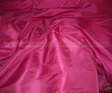 "Cerise Pink Faux Silk Taffeta 60""W Fabric"