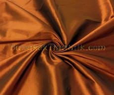 "Brown Bronze Faux Silk Taffeta 60""W Fabric"