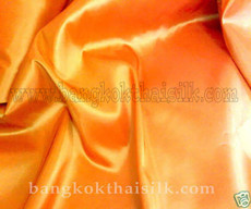 "Orange Crimson Faux Silk Taffeta 60""W Fabric"