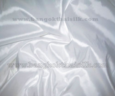 "White Faux Silk Taffeta 60""W Fabric"