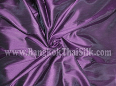 "Faux Silk Caprice Dupioni 60""W Fabric - Dark Royal Purple"