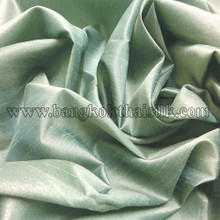 "Faux Silk Caprice Dupioni 60""W Fabric - Green Dash"