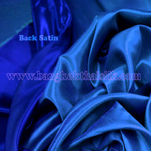 Heavy Silky Dupioni with Satin Back Fabric - Royal Blue