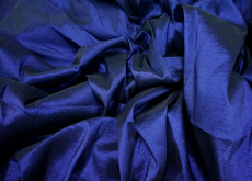4-Way Stretch Taffeta Faux Silk Fabric - Midnight Blue
