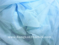 "Soft Net Stretch Tulle 60""W - BABY BLUE"