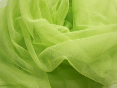 "Soft Net Stretch Tulle 60""W - Chartreuse Green"