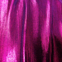 Metallic Pin Stripe Spandex 2Way Stretch Fabric - Hot Pink
