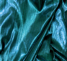 Metallic Pin Stripe Spandex 2Way Stretch Fabric - Dark Teal