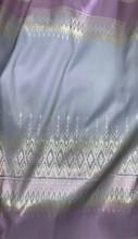 "Traditional Thai Silk Damask 40""W Fabric (PT) - Pink & Gray"