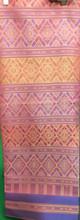 Traditional Thai Silk  Fabric 105x200 cm Pink Peach for Thai-Laos Skirt (Praewa)