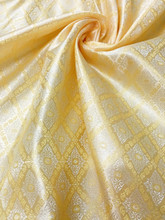 "Traditional Thai Silk Damask 60""W Fabric  - GOLD"