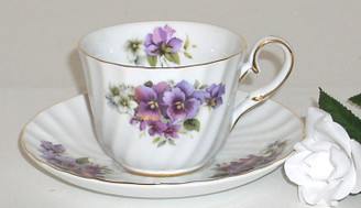 Pansy Regal 6 oz cup and saucer
