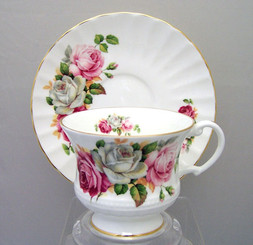 Summer Bloom' Heirloom English Style Bone China cup and saucer