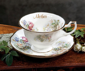Loved Ones 'Mother' Bone China Cup and saucer