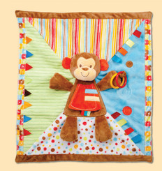 "Monkey 18"" x 20"" Activity Blankee for Babies by Douglas Cuddletoy"