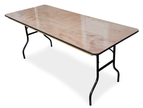 ... 6ft Wooden Trestle Table. Image 1