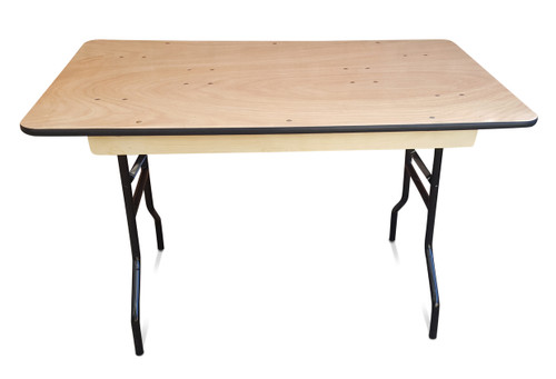 ... 4ft Wooden Trestle Table. Image 1