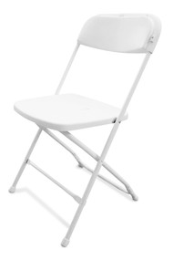 Folding Plastic Chairs   White