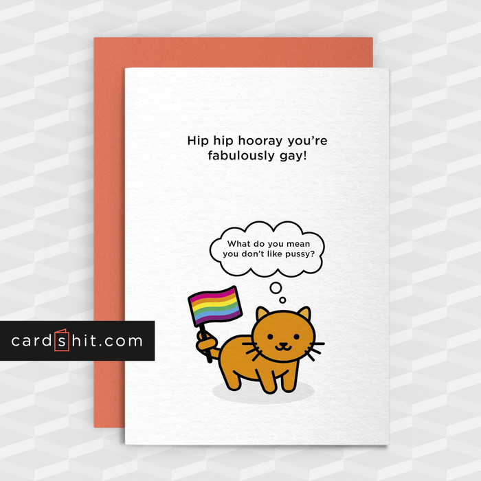 Job congratulations cards online shop cardshit greeting cards congratulations cards gay hip hip hooray youre fabulously gay what do m4hsunfo