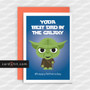 Greeting Cards Fathers Day Cards YODA BEST DAD IN THE GALAXY #happyfathersday