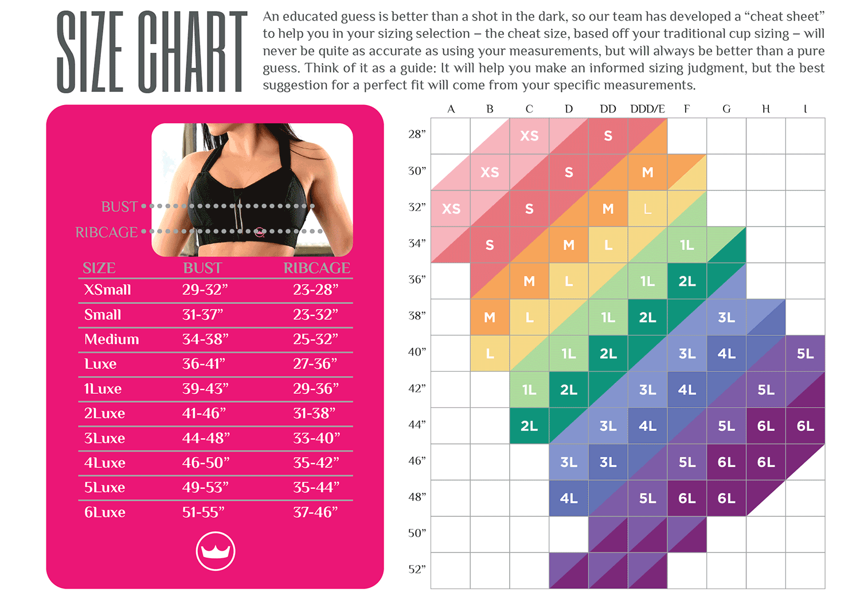 Shefit Size Chart