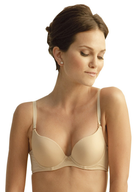 The Little Bra Company Isis Padded Demi Bra in Nude