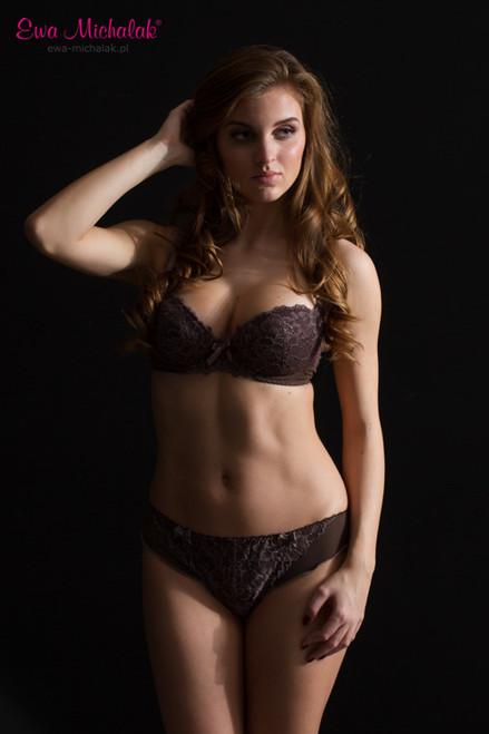 Ewa Michalak Chocolate Lace Bra