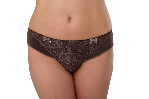 Ewa Michalak Chocolate Lace Thong