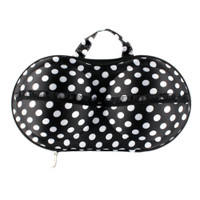 Bra Storage/Travel Bag (UIE623), Black Dot