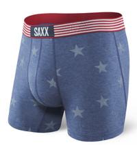 SAXX Men's Underwear Boxer Brief (SX), Vibe Chambray Americana