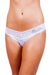 Mad Mac Crystal Lace Thong, Bride