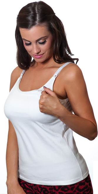 Nursing Tank, White