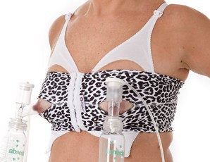 Pump Ease Hands Free Pumping Bustier, Snowy Leopard