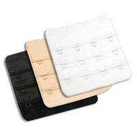 Bra Extenders, 4-hook style, package of 2 - available in white, nude or black
