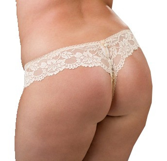 Ewa Michalak Pearl Thong Panty in sizes X-Small through 3X